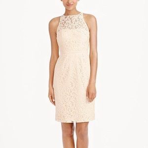 "J Crew ""Pamela"" Ivory Leavers Lace Women's Dress"